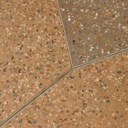 Honed concrete  –two tone concrete